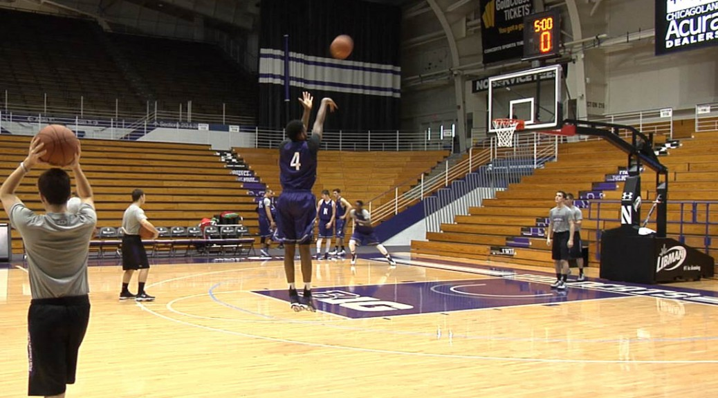 Vic Law at Northwestern Basketball Practice
