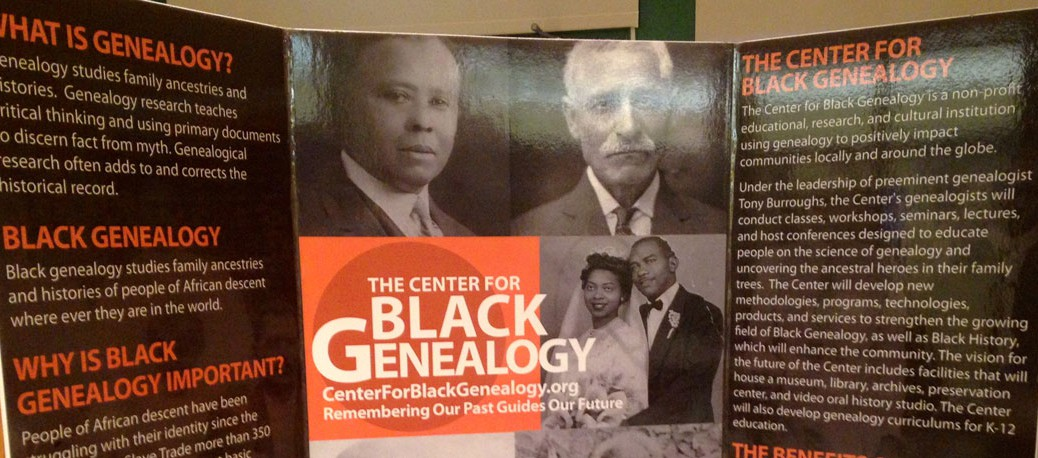 The Center For Black Genealogy Poster