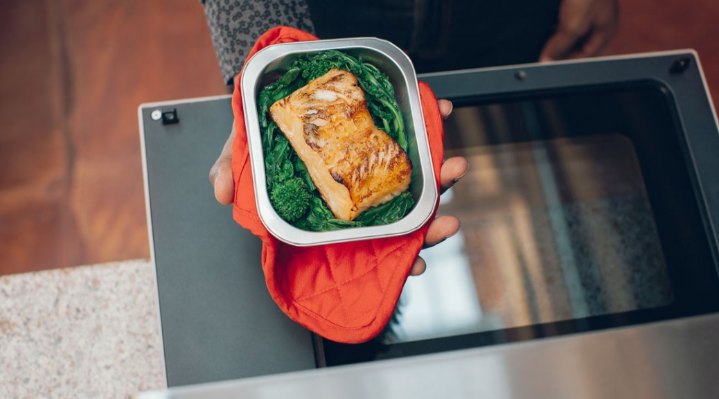 The Tovala oven cooks salmon to perfection. (Courtesy of Tovala)