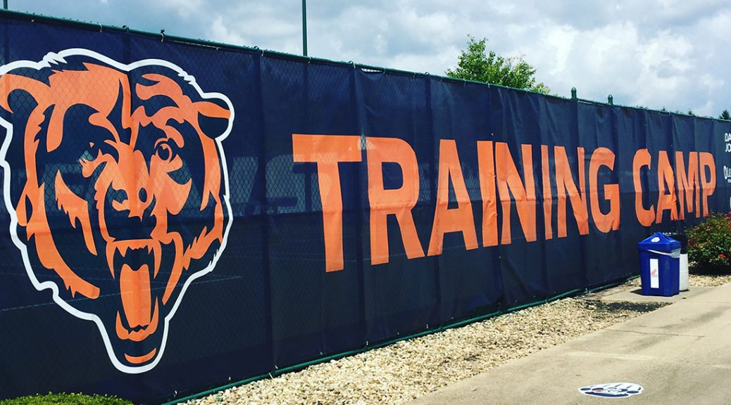 It was a hot and muggy practice on Day 2 of Bears Training Camp in Bourbonnais (Adam Rossow/MEDILL).
