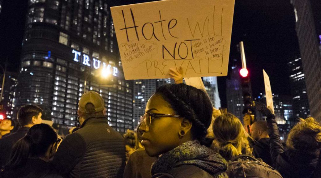 Hate will not prevail sign