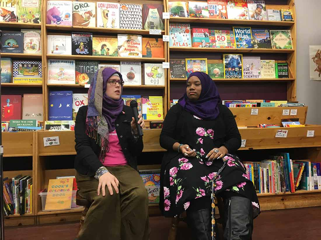 Mahdia Lynn and Zainab Shahar speak about Majid al-Rabia at Women and Children First bookstore