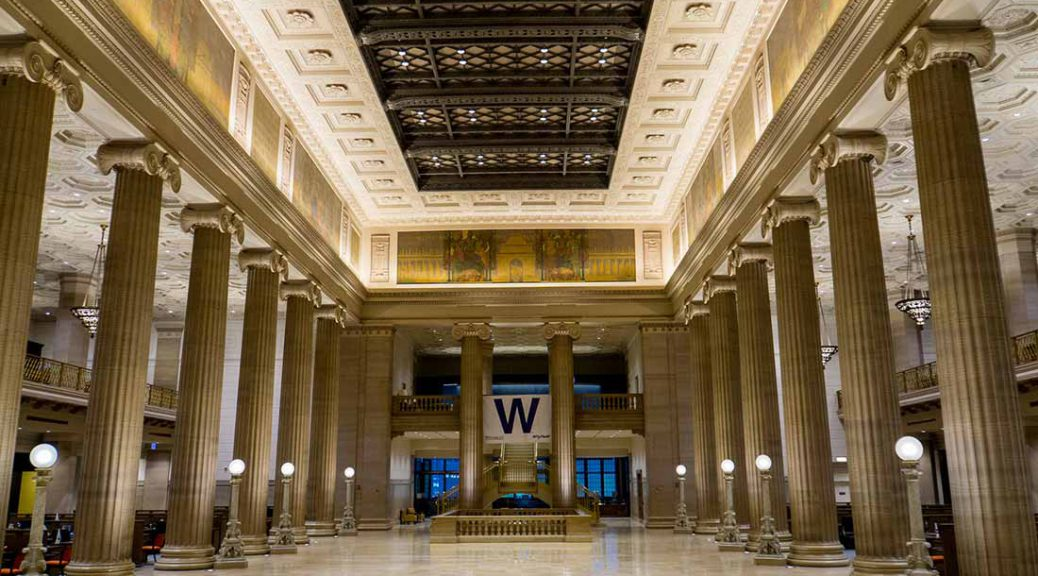 Wintrust Bank Grand Banking Hall in Chicago.