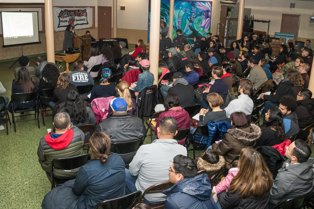 Residents of Pilsen and Little Village take their seats.