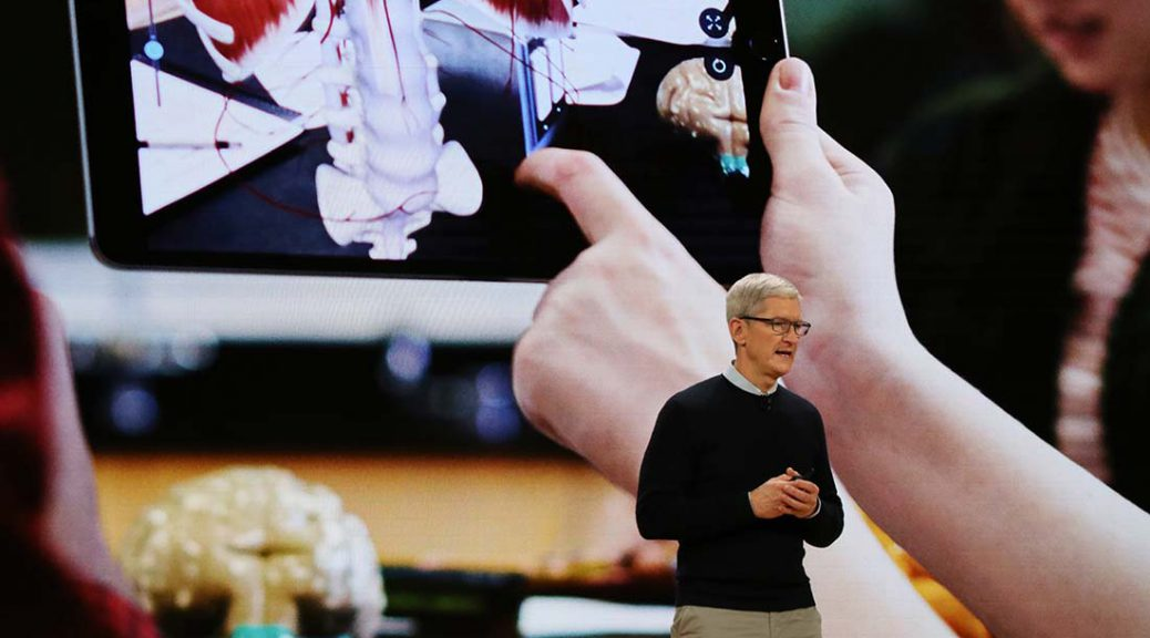 Tim Cook made an announcement about the new iPad at the event.