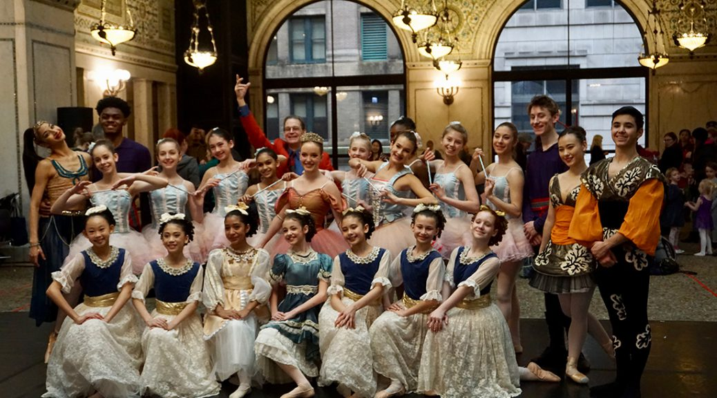 "Dancers with Ballet Chicago performed holiday classic ""The Nutcracker"" at Chicago Cultural Center, December 2."