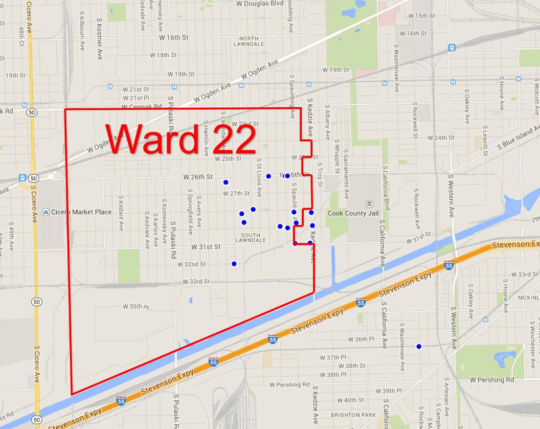 Ward22mapfixedpothole 10 1 2014 Medill Reports Chicago