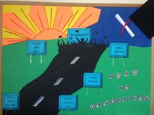 Road to education success bulletin board