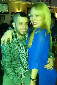 """Ashley poses with her boyfriend at a party. She proudly says that she has been free of her eating disorder since 8 years """"It's good to be free,"""" she says. (Ashley Ice/Courtesy)"""
