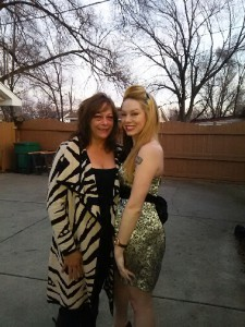 """Ashley (right) with her mother Kathy. """"Oh I am so proud of her,"""" says  Kathy. """"She is a beautiful young woman now and is helping other girls overcome their dark phase. What more could I want."""" (Ashley Ice/Courtesy)"""