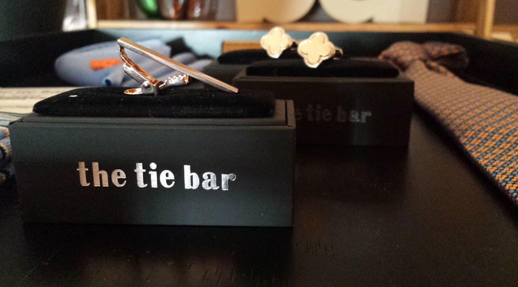 A tie bar on display in the newly permanent Lincoln Park storefront. (Mallory Hughes / Medill)