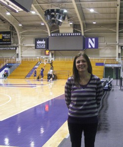 Jennifer Tymkew, a staff athletic trainer at Northwestern University, is able to look for signals of components of the Female Athlete Triad.