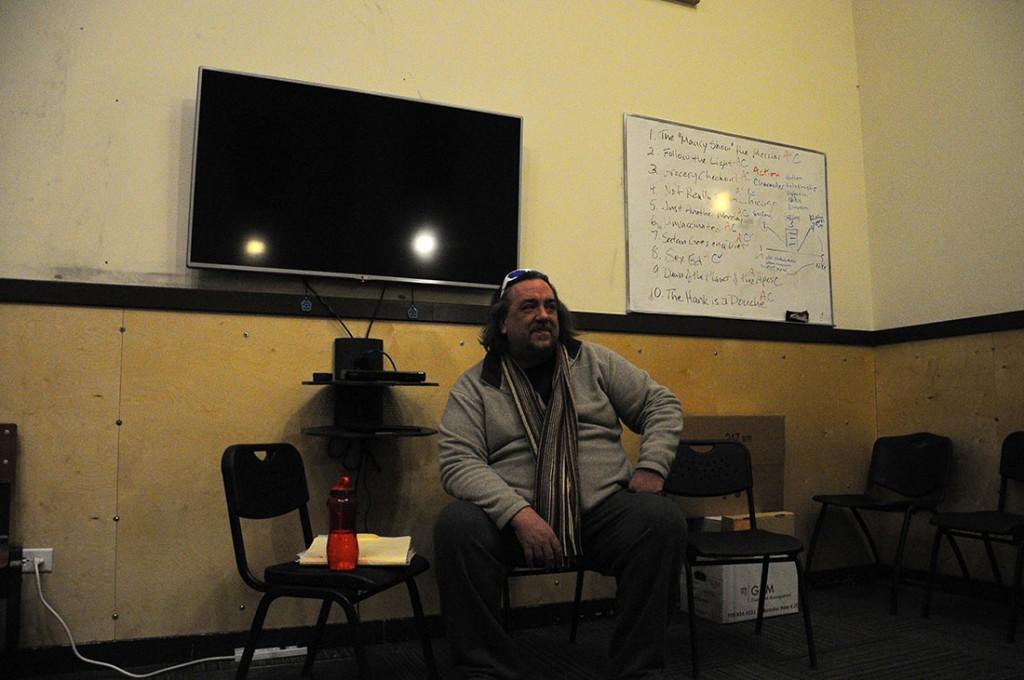 Pieper teaches a class.