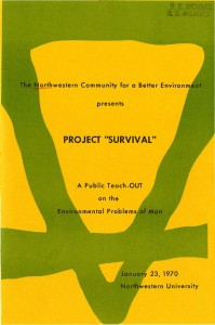 Project Survival poster (University Archives)
