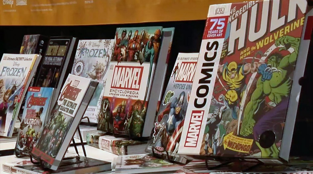Books on display at the Chicago Comic and Entertainment Expo.
