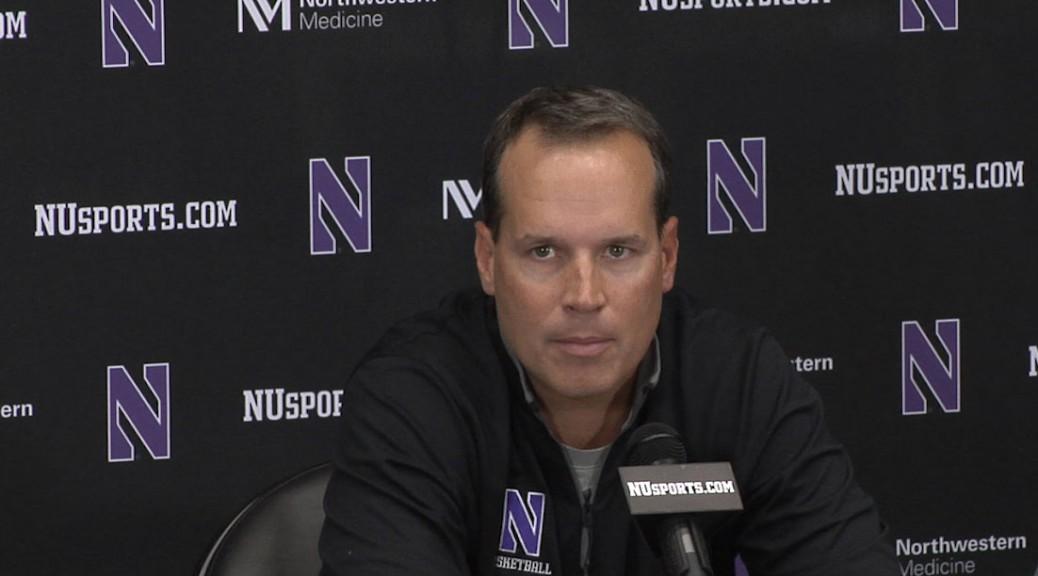 Northwestern coach Chris Collins