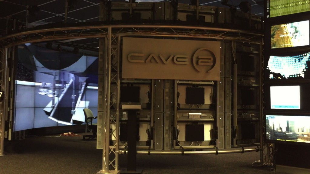 CAVE2 virtual reality room at EVL (Chencheng Zhao/Medill Reports)