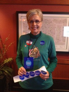 The Precinct Leader for Hillary: Betsy Dittemore.