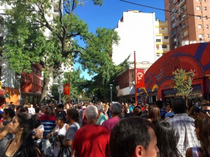 Thousands gathered at the Chinatown of Buenos Aires. (Xiumei Dong/MEDILL)