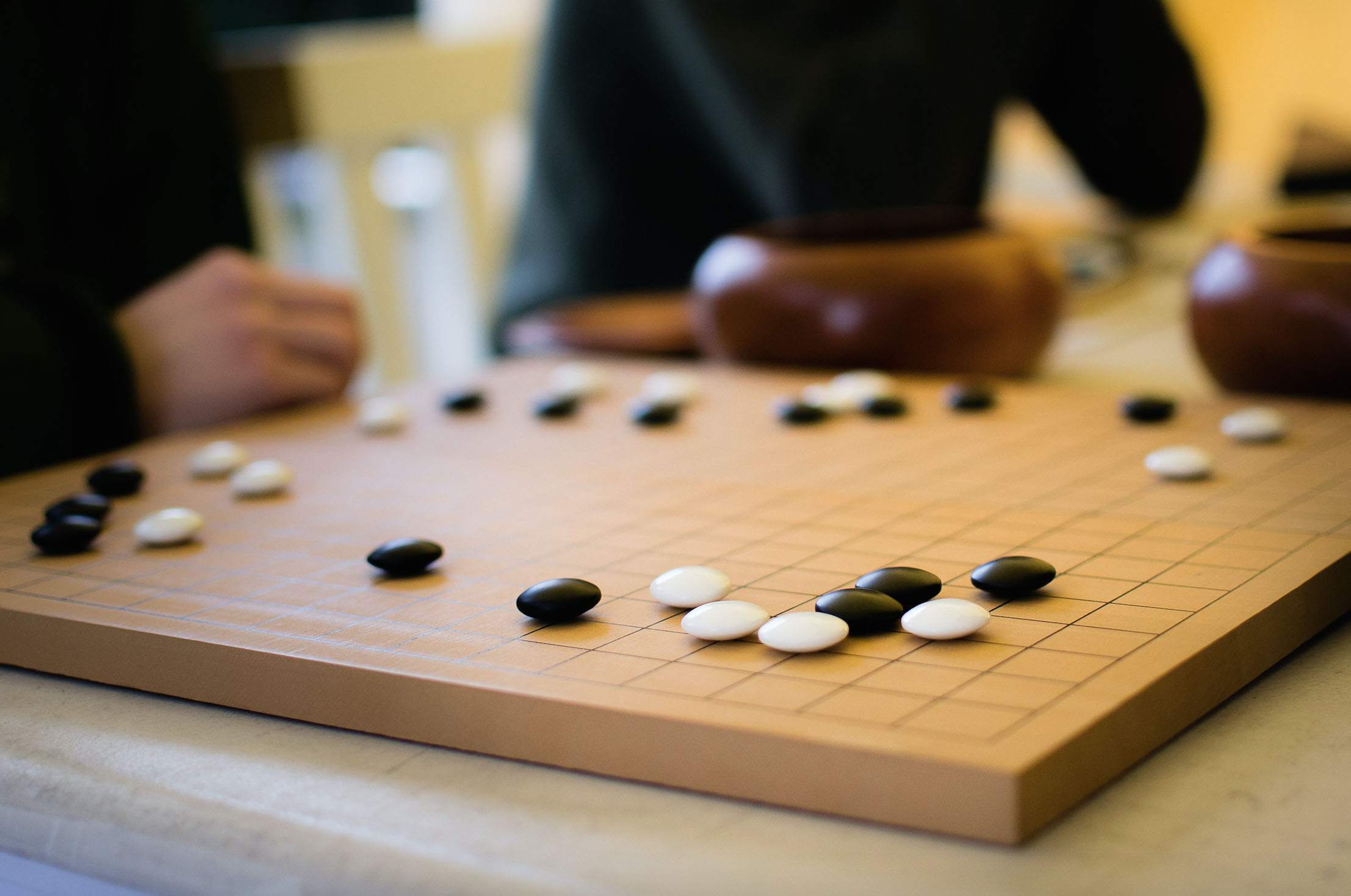 The ancient Chinese game of Go has over 200 possibilities to consider at each move. Photo courtesy of Flickr.