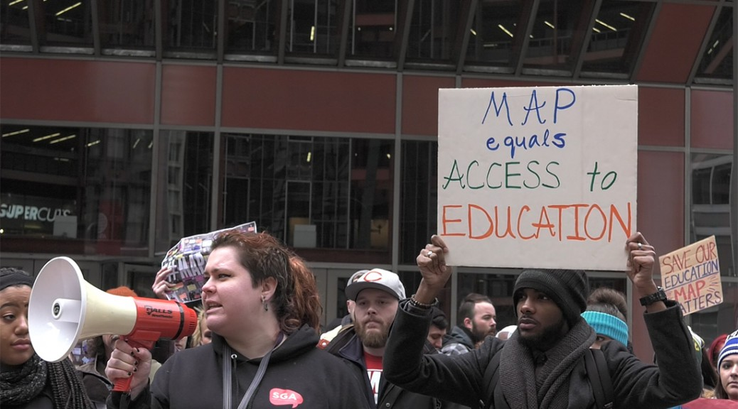 Illinois Students Rally For Map Grants Video Medill Reports Chicago