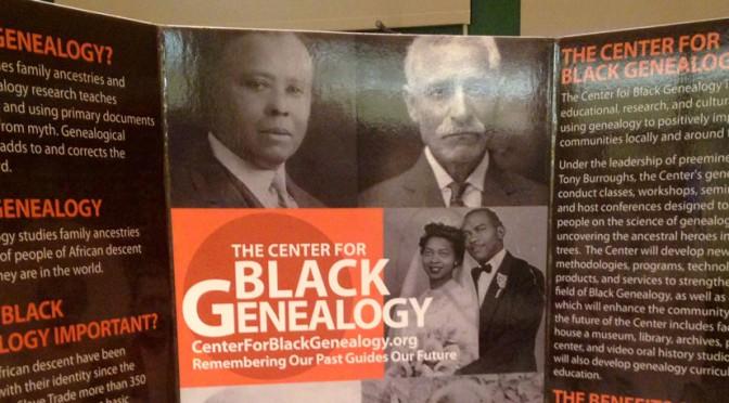 The Center For Black Genealogy Poster