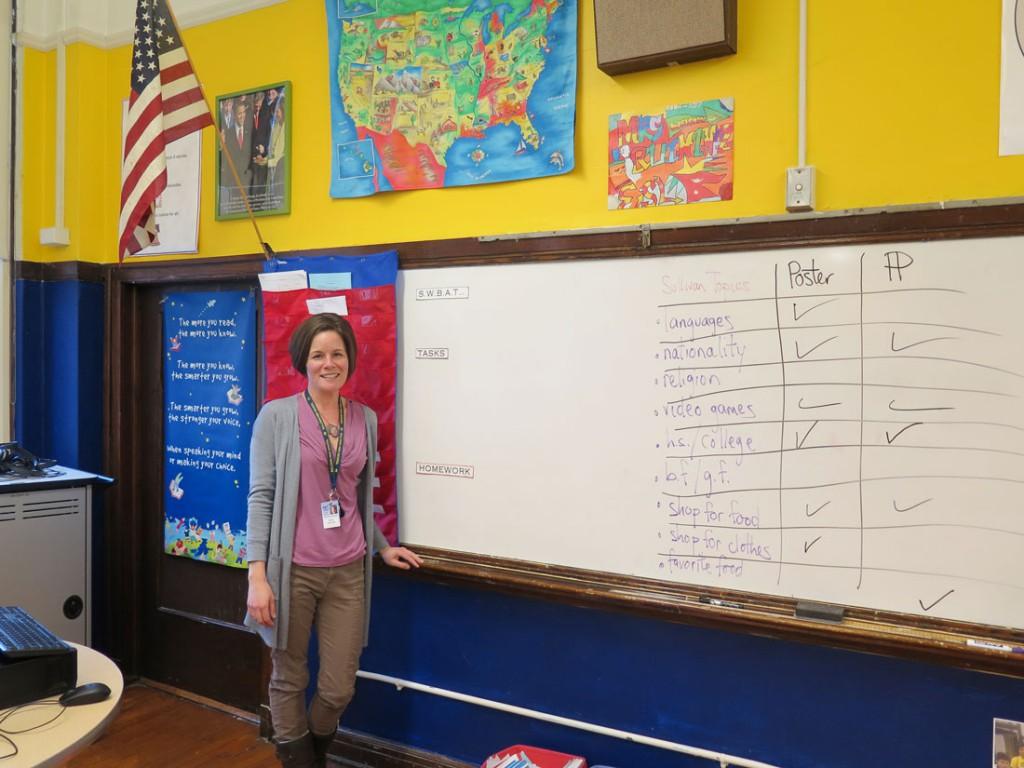 ELL class at Sullivan High School