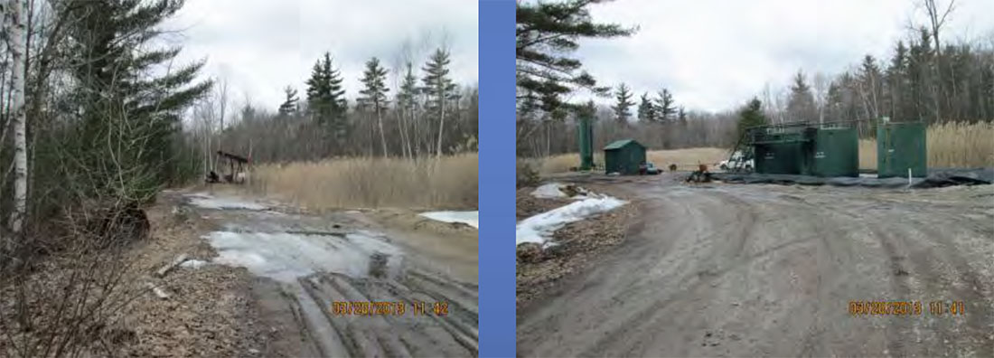 Images of a natural gas and oil production unit courtesy of the Michigan Department of Environmental Quality.