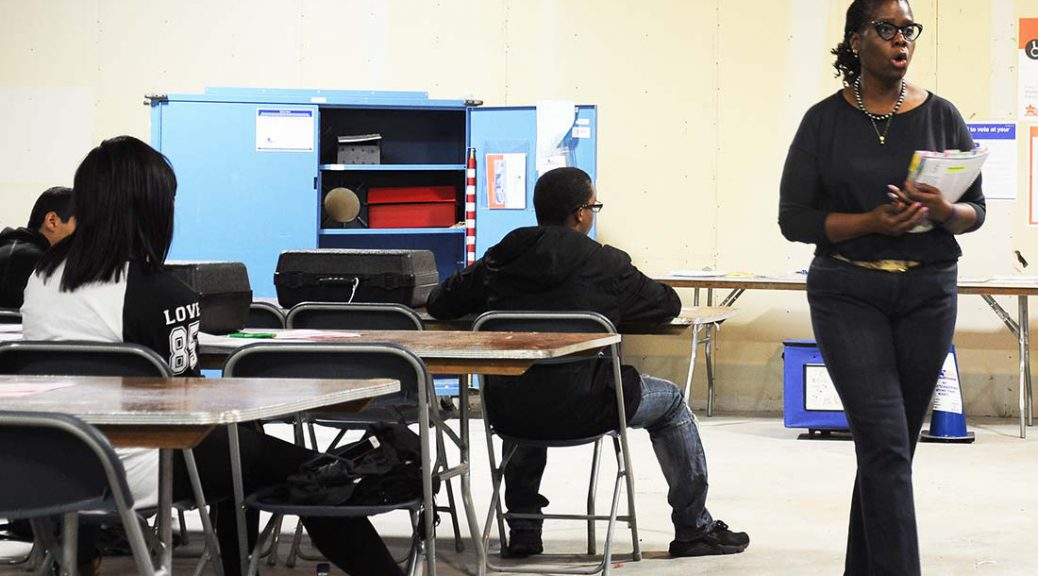 Trainer explains voter rules