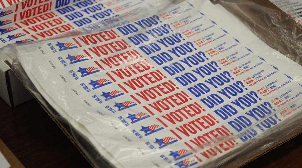 I Voted! wrist bands