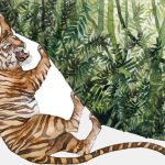 Tigers are an endangered species due to humans' negative impact on the ecosystem.