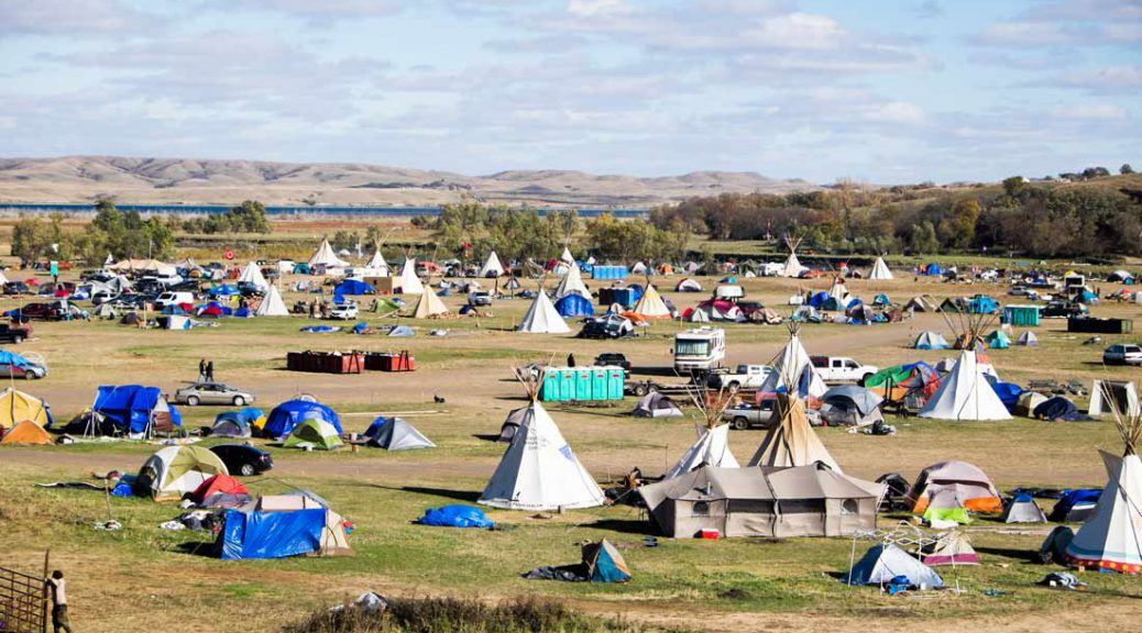 Standing Rock protest camp in North Dakota