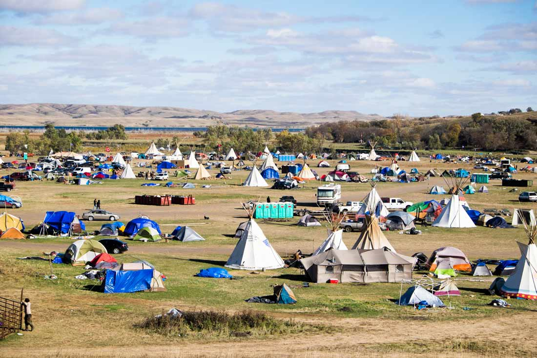 Standing Rock protest camp in North Dakota