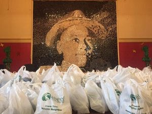 The Muslim Turkey Drive has been able to meet its goal of feeding 5,000 families in south of Chicago. Organizers gathered at Emmett Till school to prepare the turkeys to distribute among schools on Nov. 22. (Medill/Fariba Pajooh)
