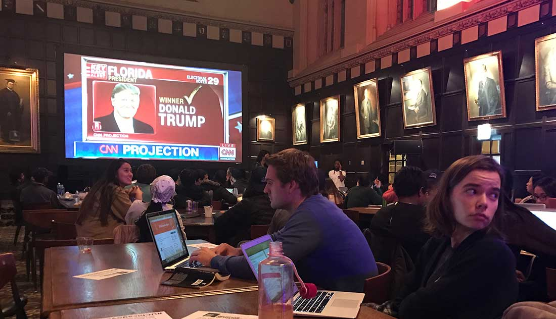 University of Chicago students view results