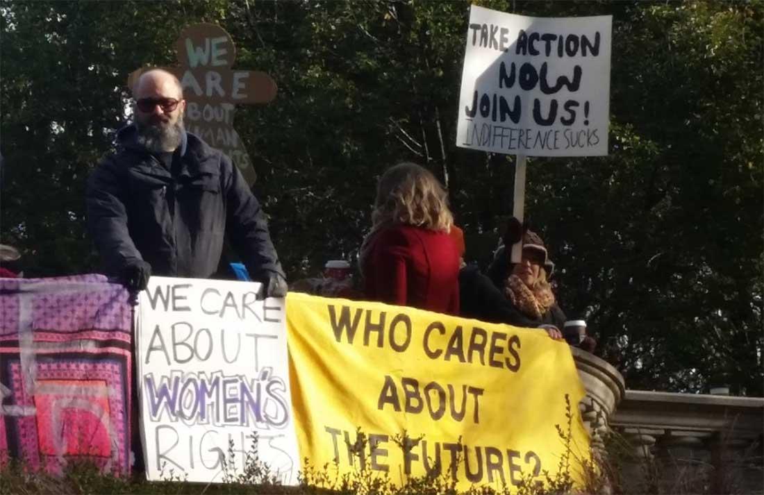 Pro-abortion demonstrators
