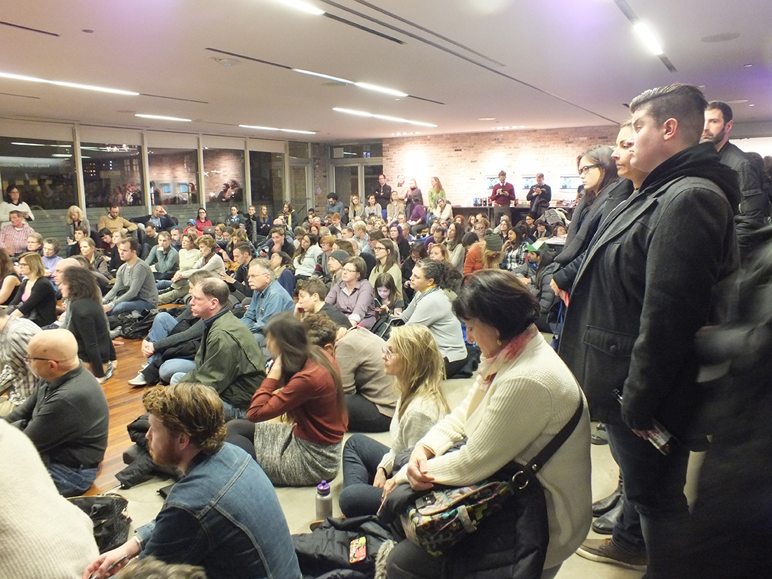 Packed overflow room as Chicagoans gather to discuss civil liberties in the age of Donald Trump