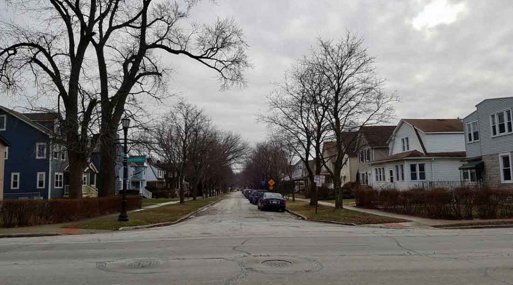 Row of suburban homes