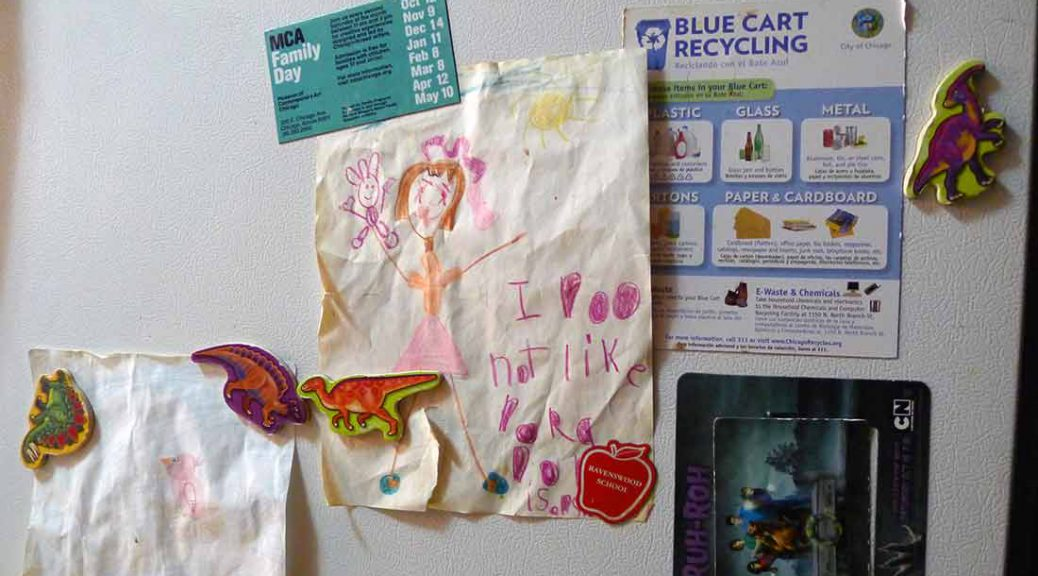 """An expressive piece of art by Panko's daughter, sums up the pain of domestic violence. It says, """"I do not like Dora."""""""