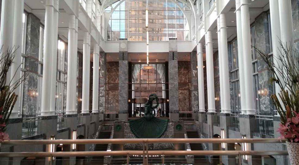 Monroe Capital Corp's office building lobby