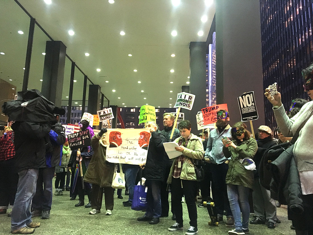 Resist Trump Tuesday Protesters