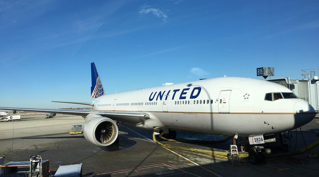 A United Airlines plane parks at Chicago O'Hare International Airport. (Shen Lu/MEDILL)