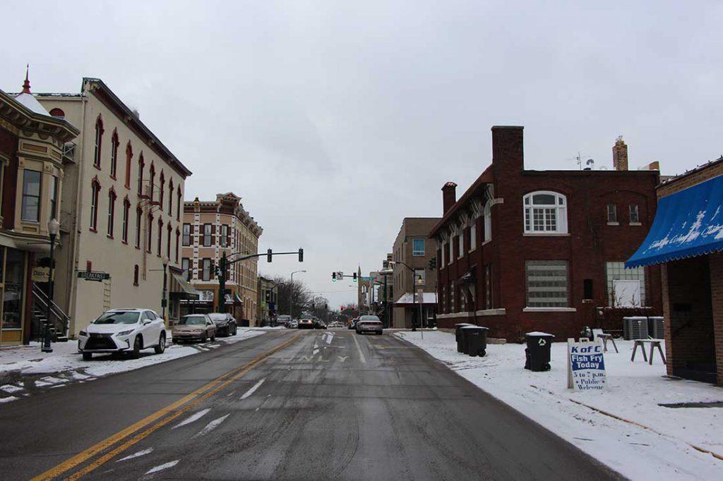 Main Street in Elkhart, Indiana