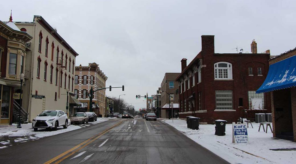 Main Street in Elkhart, Indiana