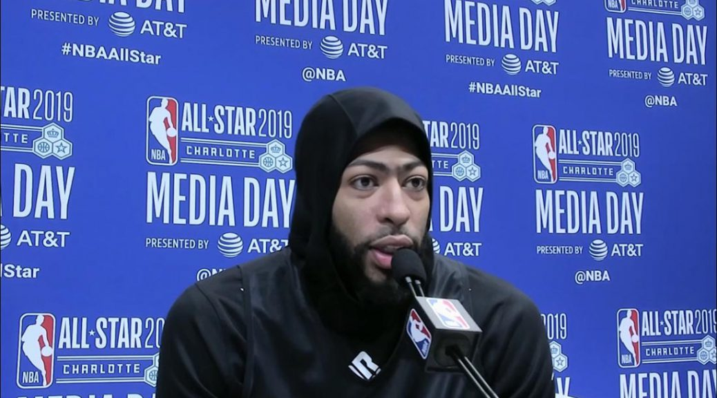 Anthony Davis at ASW 2019 Media Day