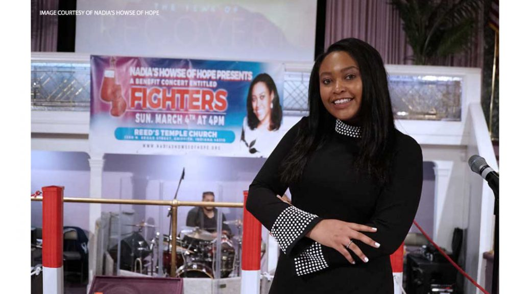Nadia Howse at her fundraising event, Fighters.